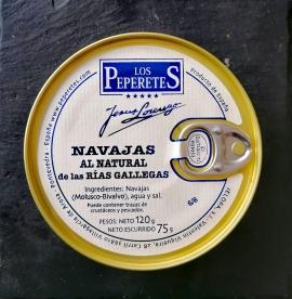 Comprar Navajas de la ría 120gr a domicilio al mejor precio online, económico y barato. Primera y máxima calidad