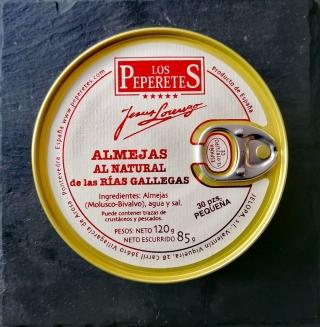Comprar Almejas al natural de las rías gallegas - 120g a domicilio al mejor precio online, económico y barato. Primera y máxima calidad