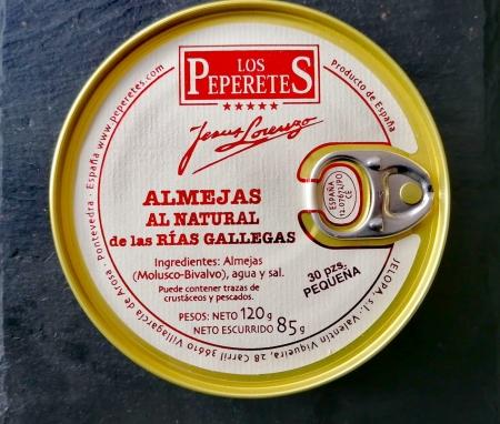 Almejas al natural de las rías gallegas - 120g