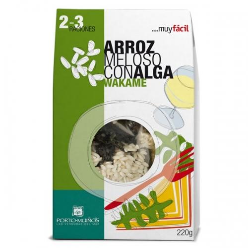 Arroz meloso con alga Wakame 220g